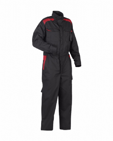 Blaklader 6054 Industry Coverall 65% Polyester 35% Cotton (Black/Red)